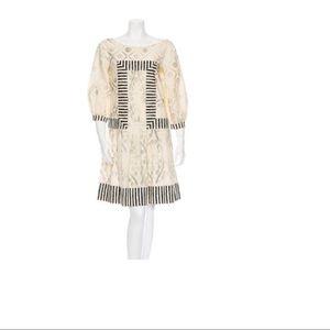Philosophy ivory cotton midi dress size 6 boho
